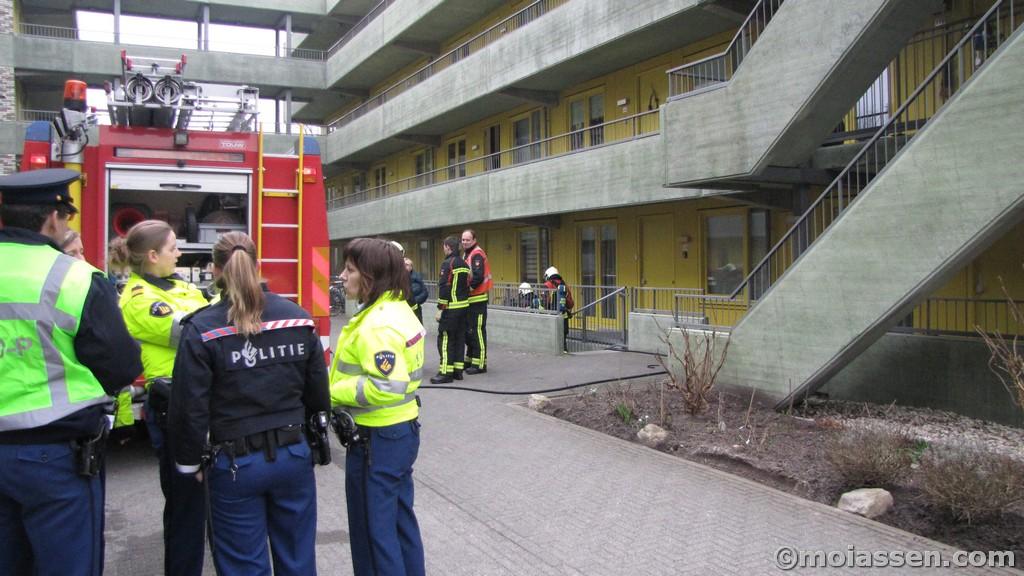 Kelderbrand aan Overcingellaan in Assen