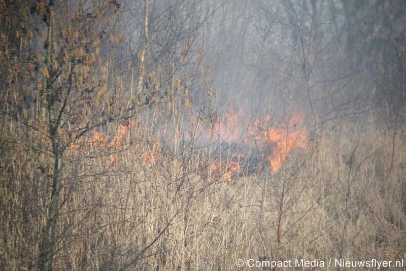 Forse buitenbrand in Assen