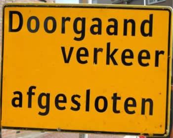 Afsluiting knooppunt de Haarweg Assen voor aanleg faunapassage