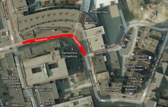 Autoverkeer niet meer toegestaan op Ceresplein