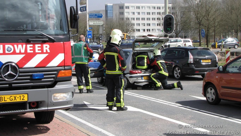 Verkeersongeval Europaweg Zuid in Assen (video)