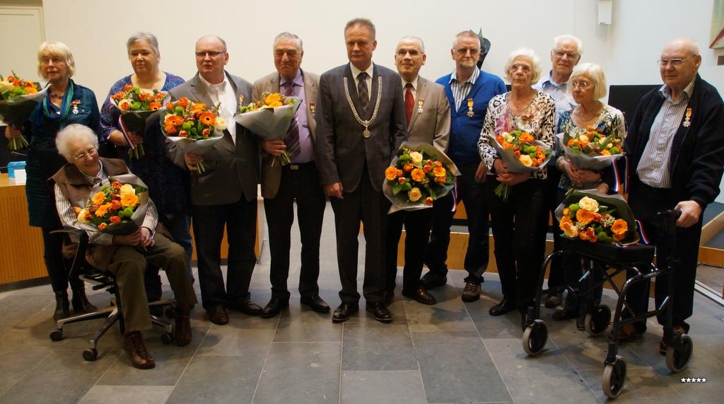 Koningklijke onderscheiding voor 11 inwoners van Assen