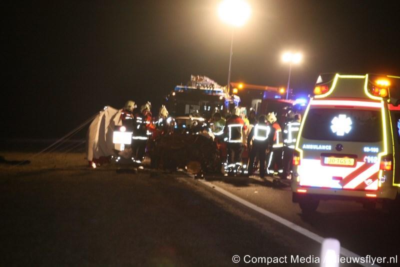 Dodelijk slachtoffer bij zwaar ongeval op N34