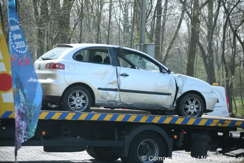 Drie voertuigen betrokken bij eenzijdig ongeval