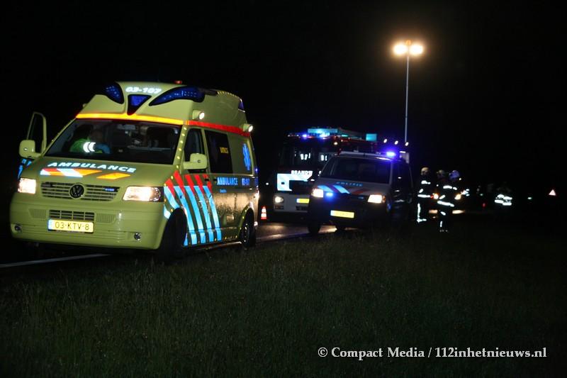 Bestuurder verliest macht over zijn voertuig op de A28 bij Assen
