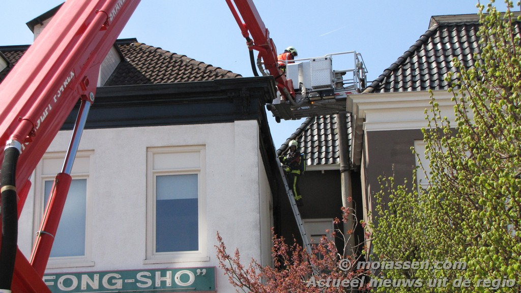 Brand in de dakgoot van restaurant Fong Sho(video) ( Foto Update )
