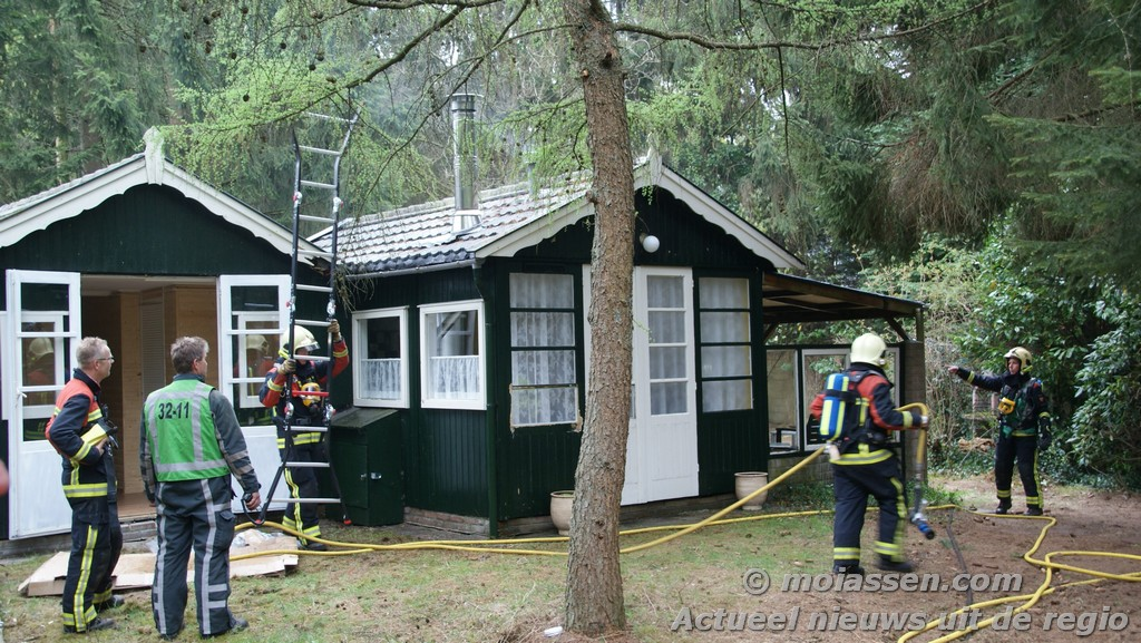 Woningbrand Oosterduinen in Norg