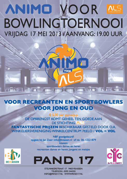 Animo voor ALS Bowlingtoernooi