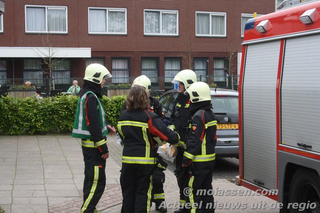 Brandgerucht bij de Bonte Wever in Assen
