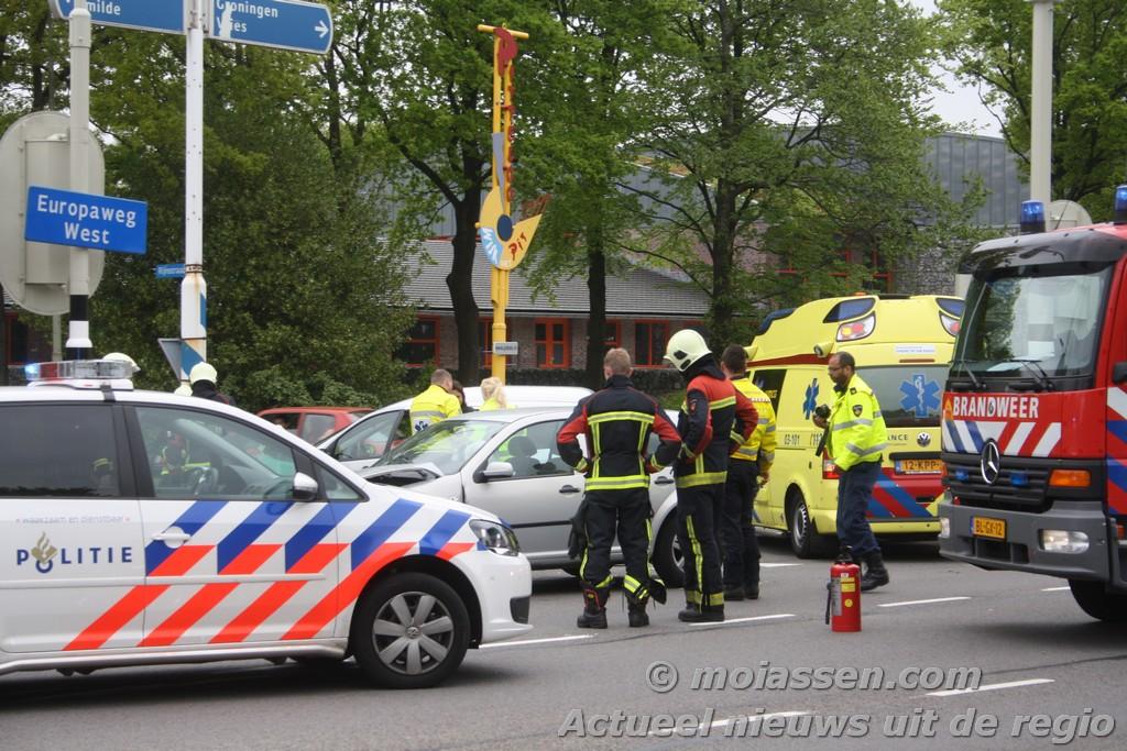 Verkeersongeval op de kruising van de Europaweg-West met de Mr. Groen van Prinstererlaan