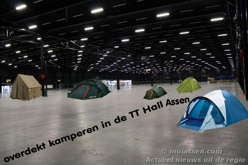 Overdekt kamperen tijdens TT 2013