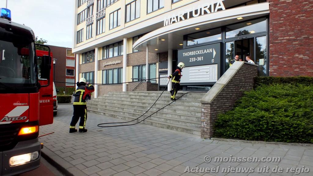 Woningbrand aan de Thorbeckelaan in Assen