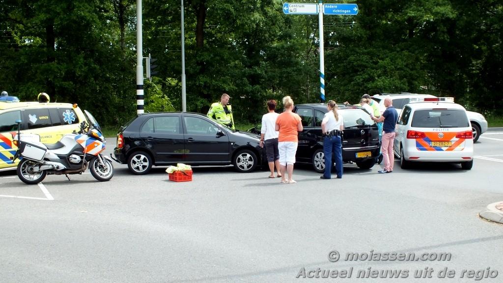 Verkeersongeval op Europaweg – zuid bij Wilhelmina Ziekenhuis