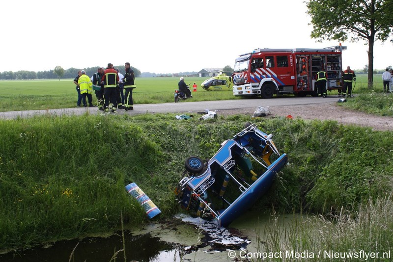Drie gewonden in Smilde na ongeval met tuktuk