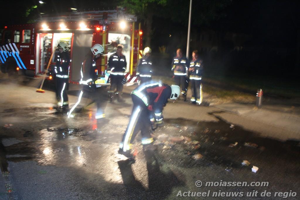 Containerbranden in de wijk Pittelo in Assen ( update )