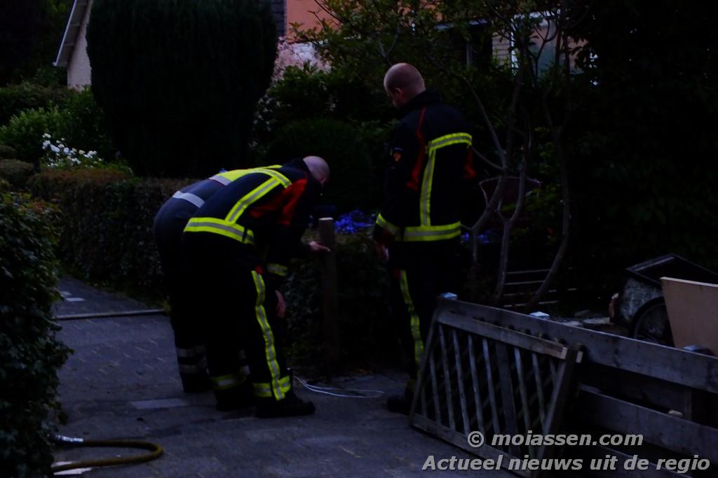 Gaslekkage aan de Lekstraat in de wijk Pittelo in Assen