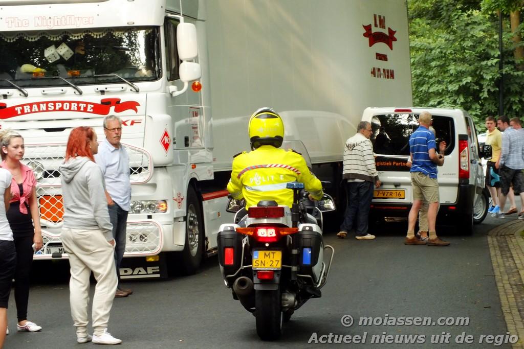 Das ist Schade voor een Duitse vrachtwagenchauffeur