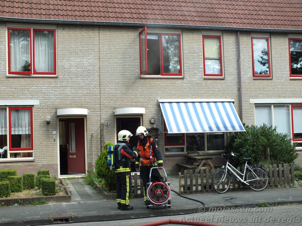 Woningbrand aan de Markedreef in Assen
