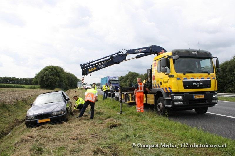 Eenzijdig verkeersongeval A28 Assen