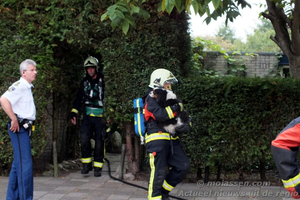 Woning vol rook aan de Salland in de woonwijk Baggelhuizen