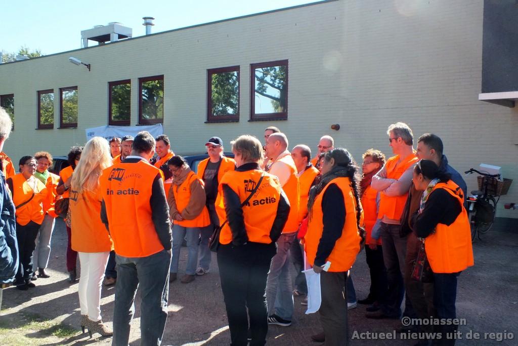 Blokkade bij koekjesfabriek in Assen