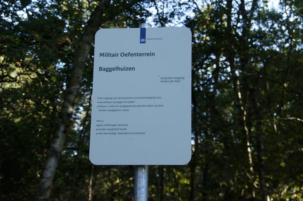 Oefenterrein Baggelhuizen opnieuw in gebruik door Defensie