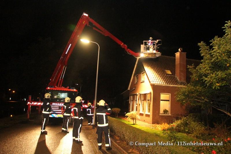 Schoorsteenbrand aan de Hoofdvaartsweg in Assen