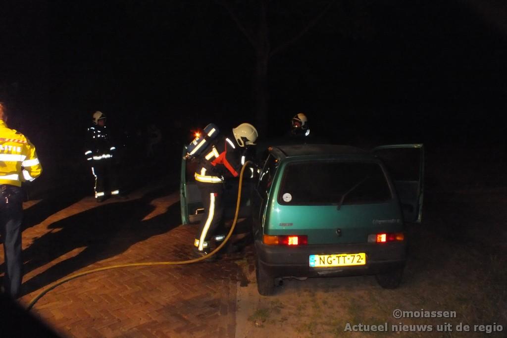 Voertuig in brand aan de Schieven in Assen