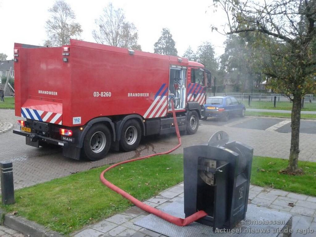 Afsluiten ondergrondse containers tijdens Oud en Nieuw in Assen