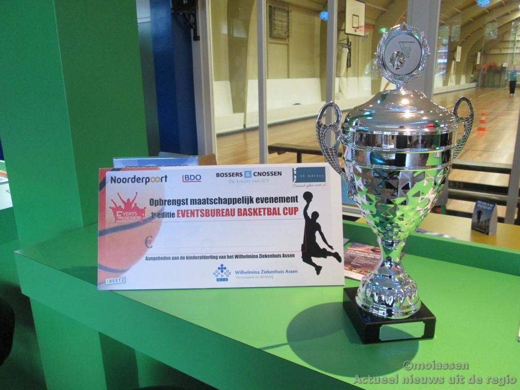Bedrijven basketballen voor kinderen in Wilhelmina Ziekenhuis Assen