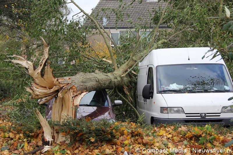 Ruim een miljoen euro schade na storm