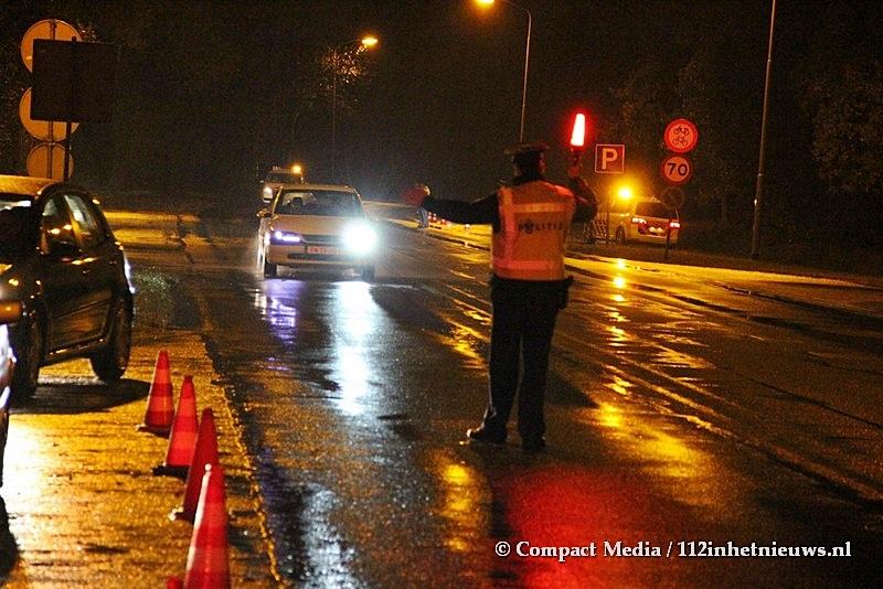 Politie controleert op alcohol in het verkeer