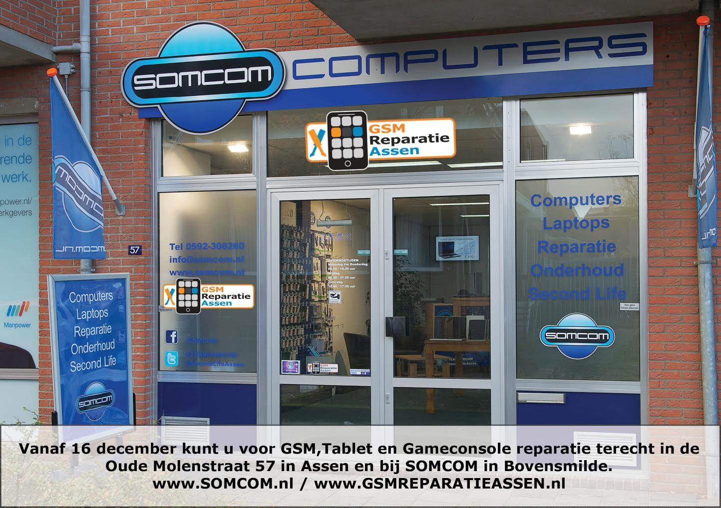 Samenwerking SOMCOM en GSM Reparatie ASSEN