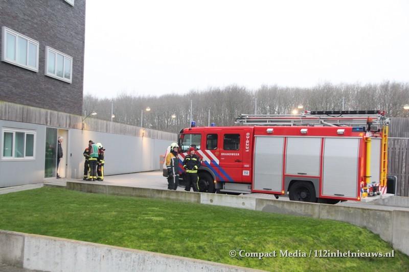 Brandmelding bij politiebureau in Assen