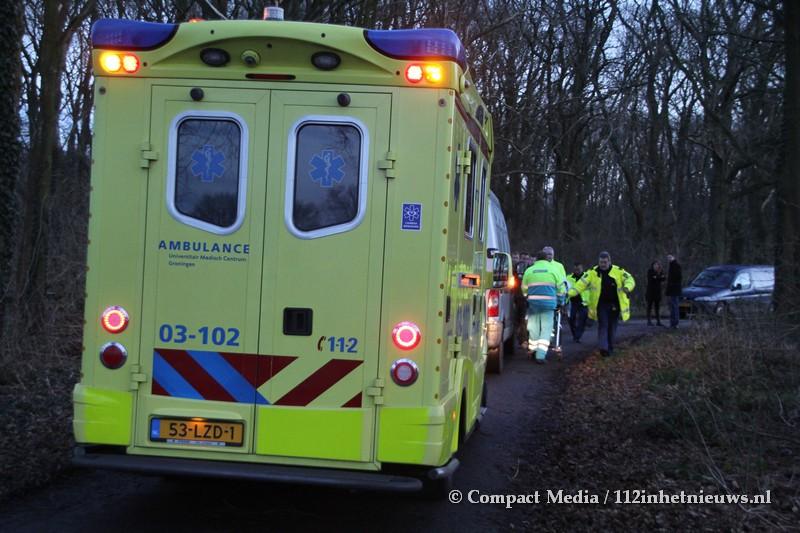 Motorcrosser gewond bij eenzijdig ongeval in Hooghalen