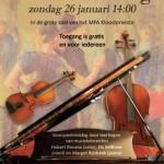 Muziekmiddag in het MFA Kloosterveste