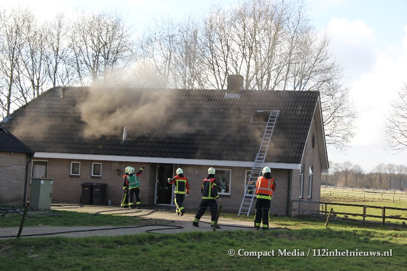 Bovenverdieping woning verwoest door brand in Vredenheim