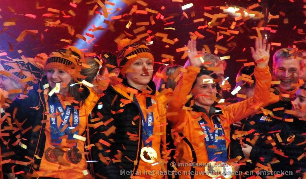 Assen ontvangt Olympische sporters(UPDATE FOTO's & VIDEO)
