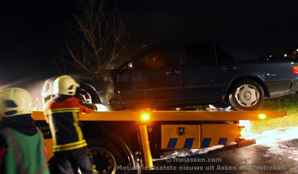 Auto uitgebrand aan de Duitslandlaan in Assen