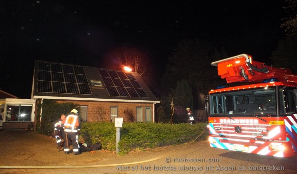 Uitslaande schoorsteenbrand in Assen