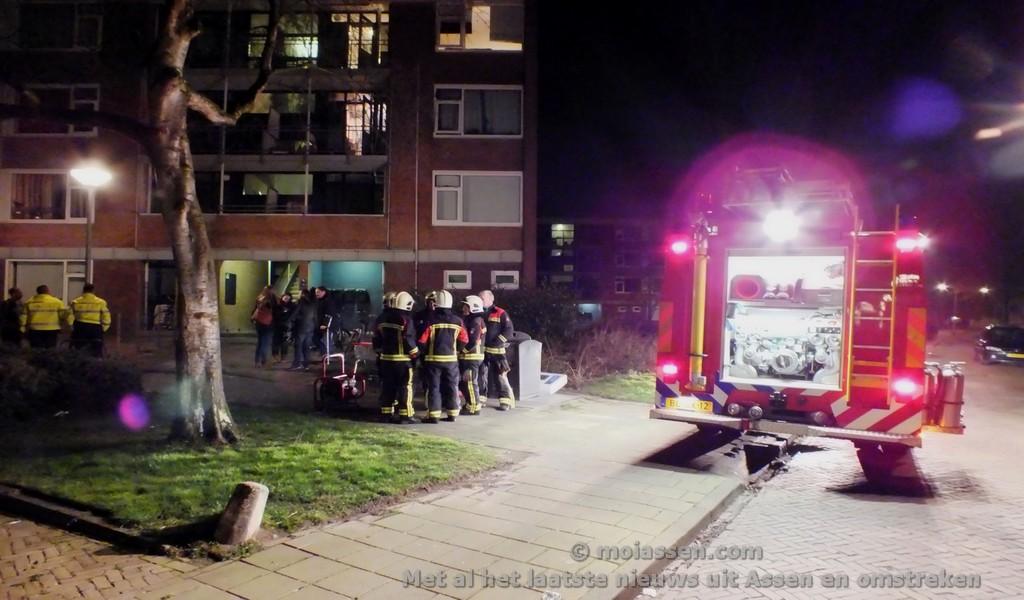 Kleine brand in flat Rabenhauptstraat in Assen