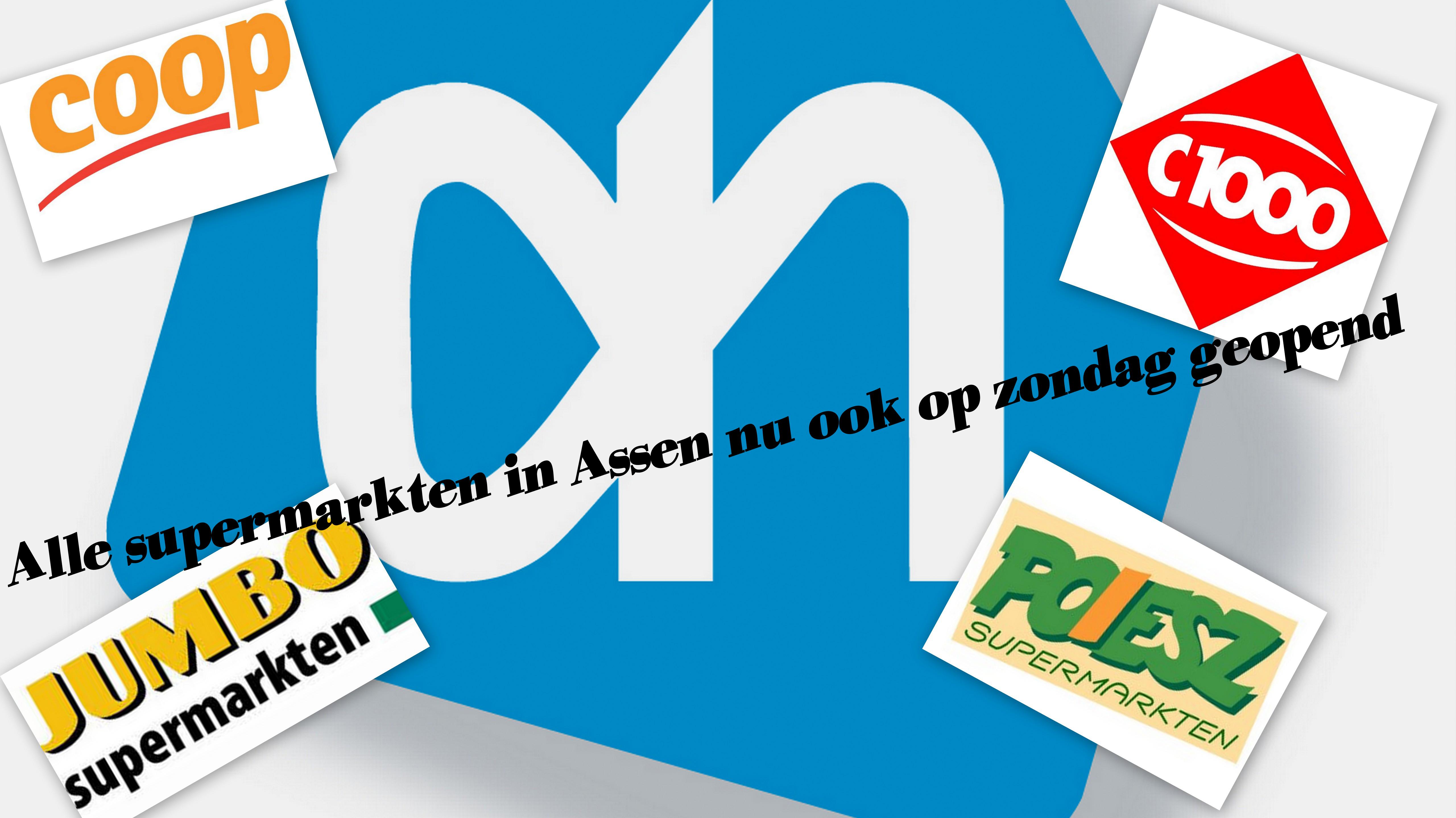 Alle supermarkten in Assen nu ook op zondag geopend
