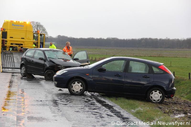 Plaatselijke hagelbui veroorzaakt ongeval op A28
