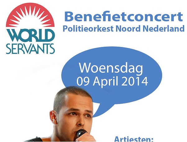"Benefietconcert ""World Servants"" in De Nieuwe Kolk"