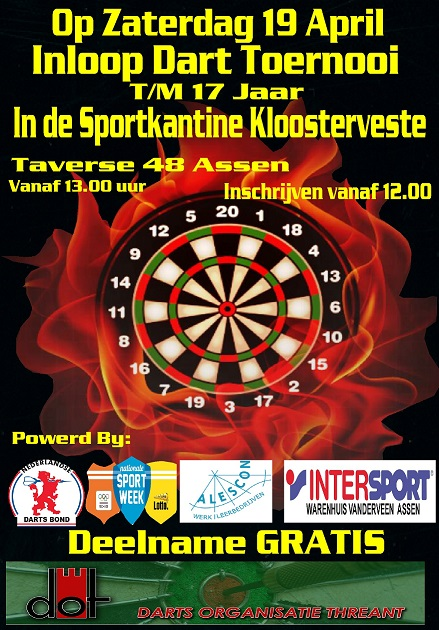 Dart toernooi Kloosterveen