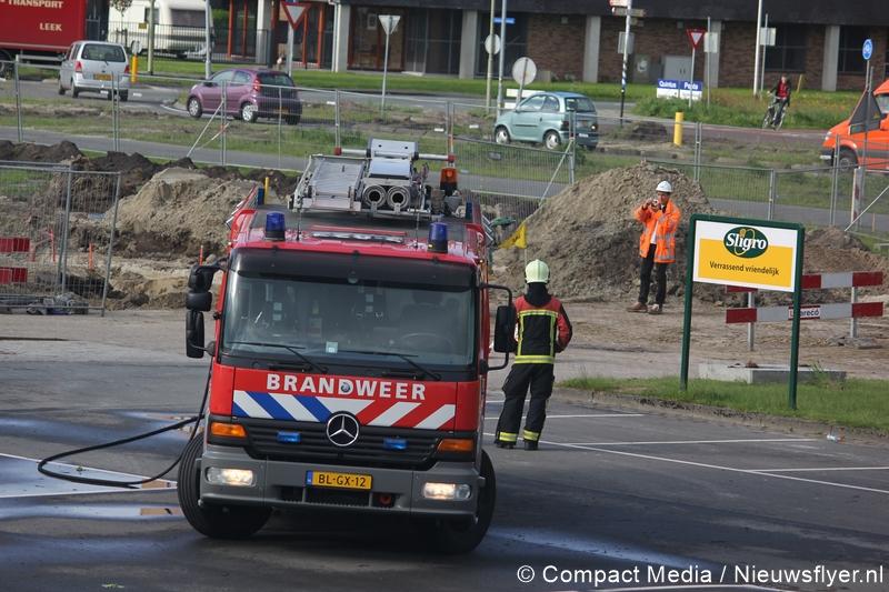 Gaslekkage bij wegwerkzaamheden Florijnas Assen