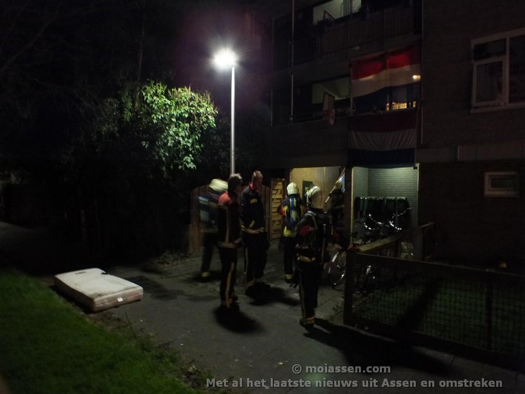 Kleine brand in flat Dotterbloemstraat Assen