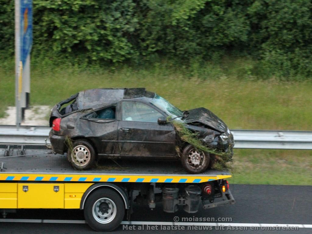 Gewonde bij verkeersongeval op A28