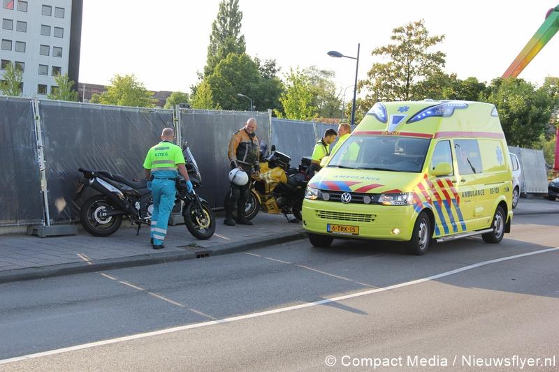 Motorrijder heeft geluk bij ongeluk