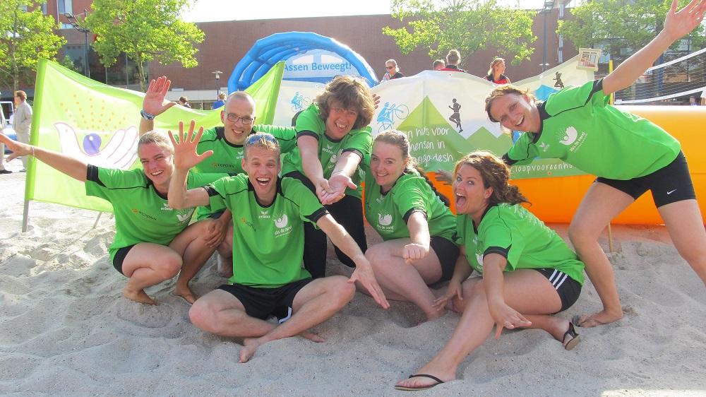Team GBS De Parel beacht en rent voor een huis!